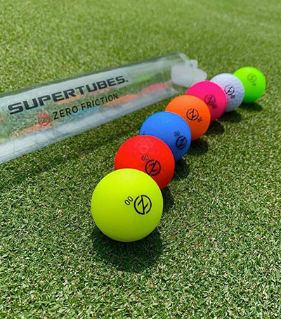 zero friction multi color golf balls